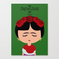 frida kahlo Canvas Prints featuring Frida Kahlo by Creo tu mundo
