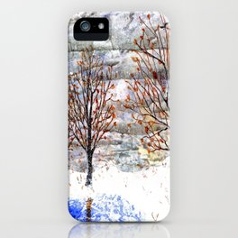 Snow Grey Skies over Moon Lake in Dewdrop Holler iPhone Case