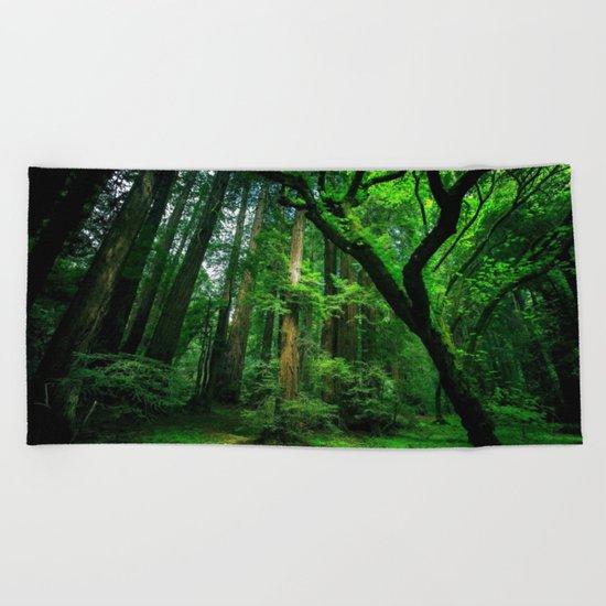 Enchanted forest mood II Beach Towel