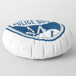 Police Dog Shield Mascot Floor Pillow