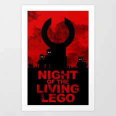 Night of the Living LEGO Art Print