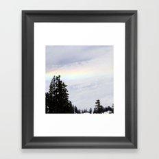 Mountaintop Rainbow Framed Art Print