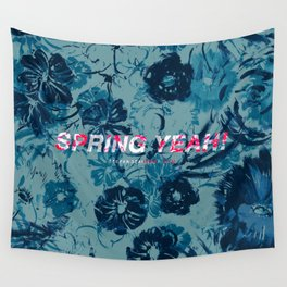Spring Yeah! - Blue Flowers Wall Tapestry