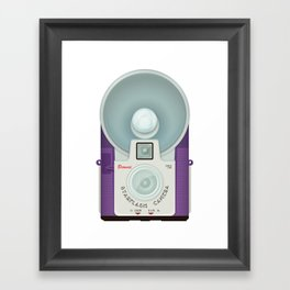 VINTAGE CAMERA PURPLE Framed Art Print
