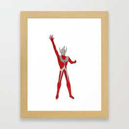 Ultraman Taro Action Figure Shirt Framed Art Print