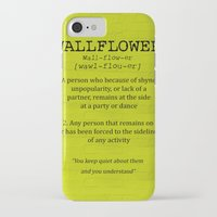 the perks of being a wallflower iPhone & iPod Cases featuring Wallflower by the perks of being a wallflower