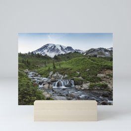 Edith Creek and Mount Rainier Mini Art Print