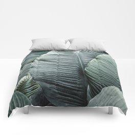 Banana Leaves Tropical Art Comforters