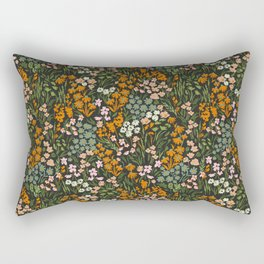 Night in the flowered meadow Rectangular Pillow