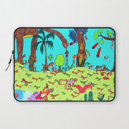 Dinosaur Battle_2 Laptop Sleeve