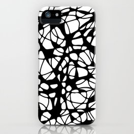 black curves iPhone Case
