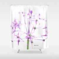 lavender Shower Curtains featuring Lavender by Rafael Salazar