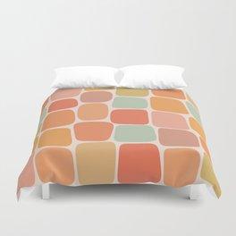 Minimal Blocks - Summer Warmth Duvet Cover