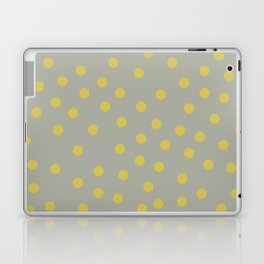 Simply Dots Mod Yellow on Retro Gray Laptop & iPad Skin