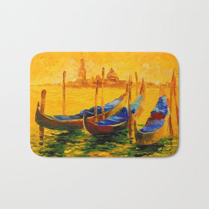 Golden evening in Venice Bath Mat