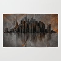metropolis Area & Throw Rugs featuring Metropolis by Robin Curtiss