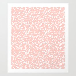 Pink and White Composition Notebook Art Print