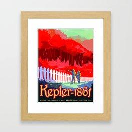 Vintage poster - Kepler-186f Framed Art Print