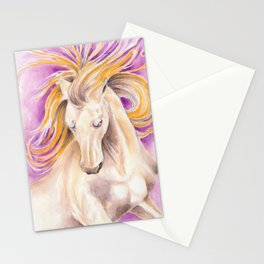 Andalusian Palomino Purple Watercolor Art Stationery Cards