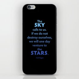 The Sky Calls to Us iPhone Skin