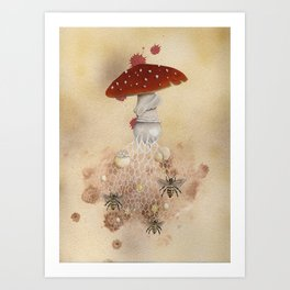 Bee agaricic Art Print