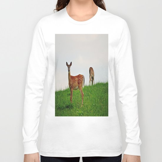 Backyard Deer Long Sleeve T-shirt