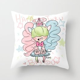 Harajuku Babu Throw Pillow