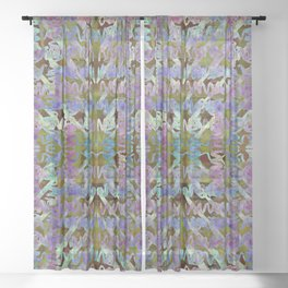 Inchworms Lavender Field Sheer Curtain