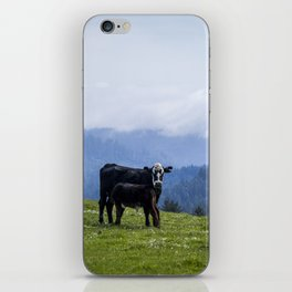 Mama and her baby calf. iPhone Skin