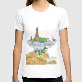 Bangkok, Breakfast, Bird Bath T-shirt