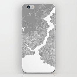Istanbul map grey iPhone Skin