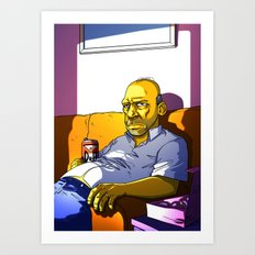 Depressed Homer Art Print