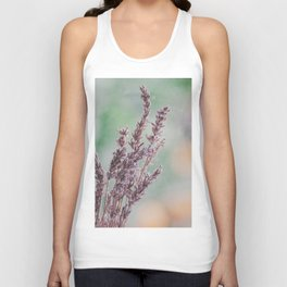 Lavender by the window Unisex Tank Top