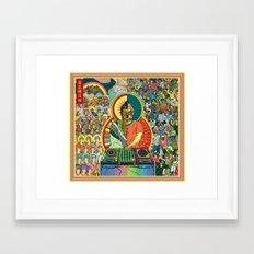Life of Buddha - 7. Enlightenment and teaching  Framed Art Print
