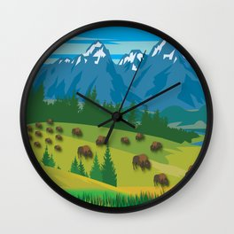 Land Of The American Natives No. 2 Wall Clock