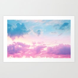 Unicorn Pastel Clouds #3 #decor #art #society6 Art Print