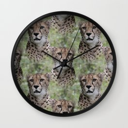 Allover Cheetah Wall Clock