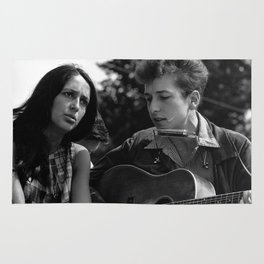 Bob Dylan and Joan Baez at the March on Washington, 1963 Rug