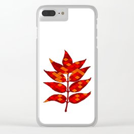 Ash leaves Clear iPhone Case