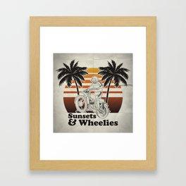Sunsets & Wheelies Framed Art Print