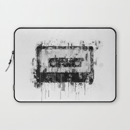 cassette / tape Illustration black and white painting Laptop Sleeve