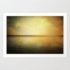 moon and lake stories 2 Art Print