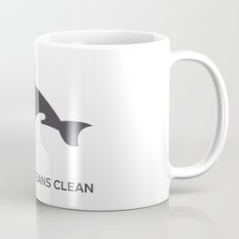 Keep Our Oceans Clean Orca On A Blue Wave Background Coffee Mug