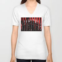 milan V-neck T-shirts featuring Milan by James Campbell Taylor