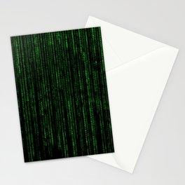 Matrix Code Pattern Stationery Cards