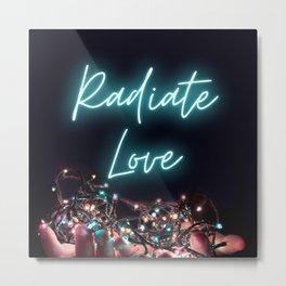 Radiate Love - Modern Night Candles Glow design Metal Print