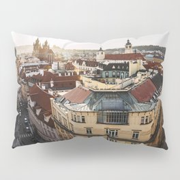 Prague Cityscape at sunset Pillow Sham