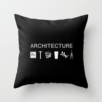 architecture Throw Pillows featuring Architecture by Rothko