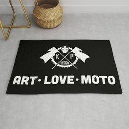 KP Design : Art - Love - Moto Crest Logo Rug
