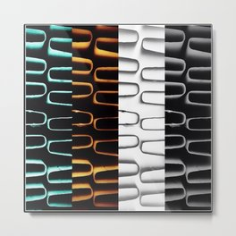 Coloured Heating Coils Metal Print